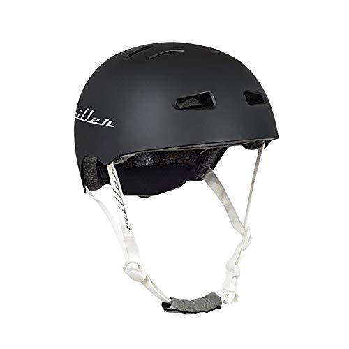 Miller Skateboards Unisex– Erwachsene Miller Pro Helmet II CE Black S/M Helm, Schwarz, Einheitsgröße