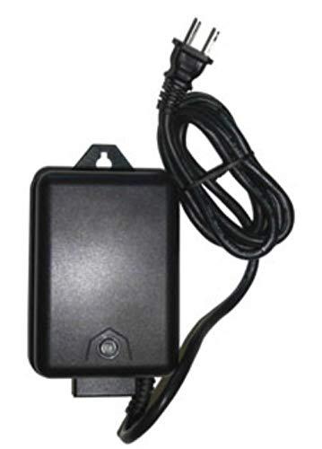 60 Watt 120 Volt AC to 12V Volt LED & Halogen Compatible - Low Voltage Landscape Lighting Outdoor Weatherproof 60W Transformer Light Electric Power Pack with Photocell Sensor - Black Case