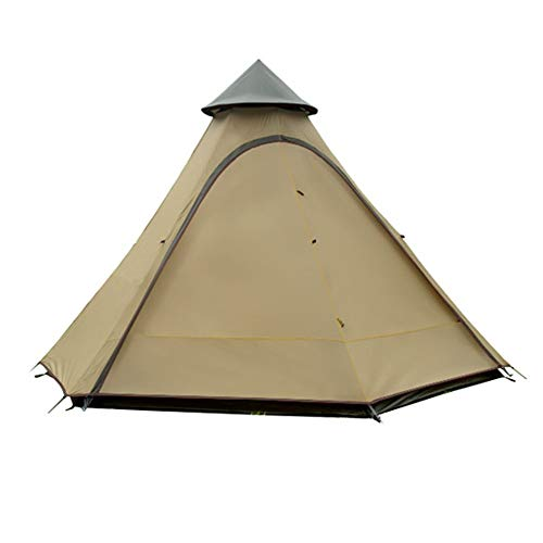 DGZJ Rahmen Zelte Outdoor-Windsicher Camping Schuppen New Pergola Turm Tent Camping Ideal für Camping Wandern Außen (Color : Brown, Size : 3-4 Persons)