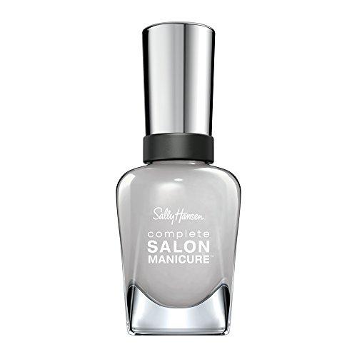 Sally Hansen Complete Salon Manicure Nagellack, All Grey All Night, limitierte Edition mit Keratinkomplex und glänzendem, Farbe 013, Hellgrau, 1er Pack (1 x 14,7 ml)