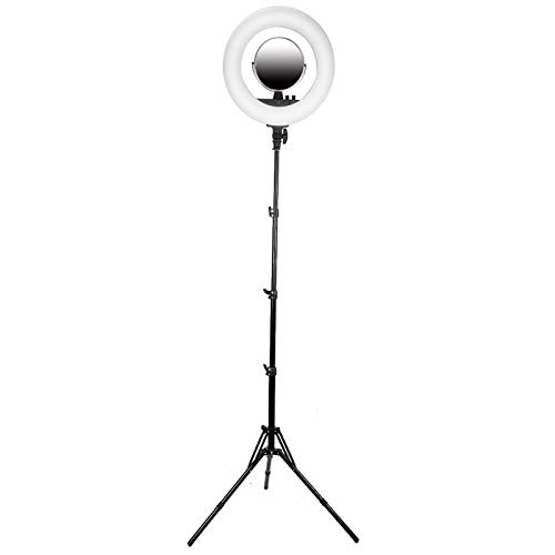 DAUERHAFT Luz de Anillo de diseño de botón Simple de Alto Brillo 3200-6400k Temperatura de Color Luz de Relleno de Selfie para(European Standard 110-240V)