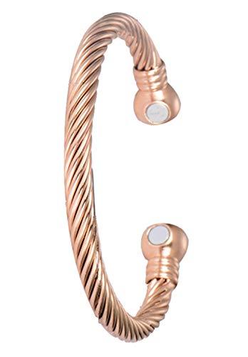Antiquity Sian Art Copper Magnetic Bracelet with Strong Elastic for Wrist Bracelets for Women and Men