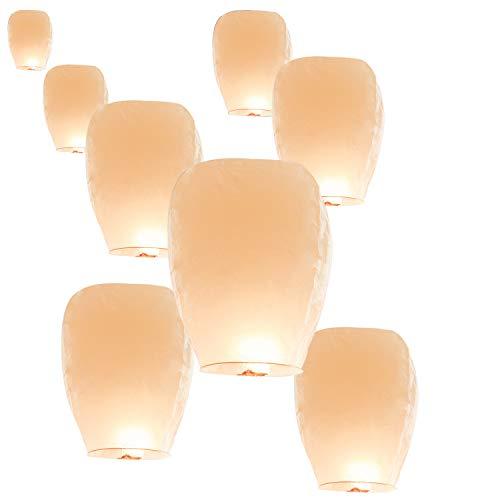 40 Pack Chinese Paper Lanterns Sky Lanterns 100% Biodegradable Environmentally Friendly, Flying Wish Lanterns for Wedding, Birthday Party, Festivals Celebration