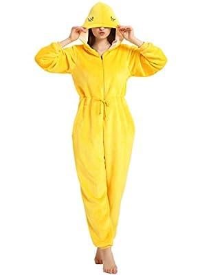 XVOVX Unisex Adults and Children Flannel Cartoon Animal Cosplay Costume Pajamas Onesies Sleepwear