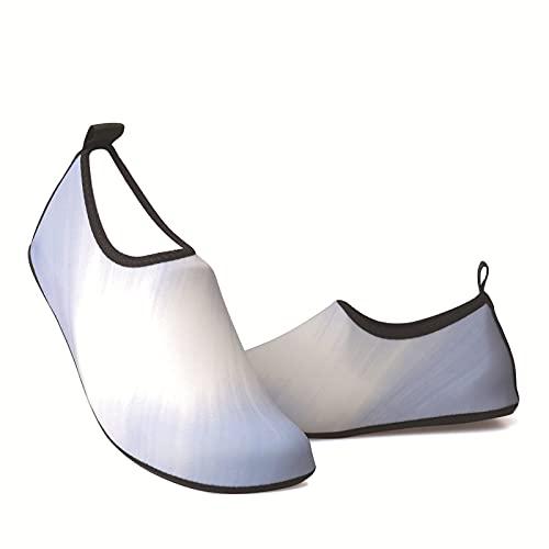 WEIXINMWP Zapatos de Deportes acuáticos para Hombres y Mujeres Descalzos de Secado rápido de Agua de Yoga Calcetines de Yoga Estilo,27,35/34