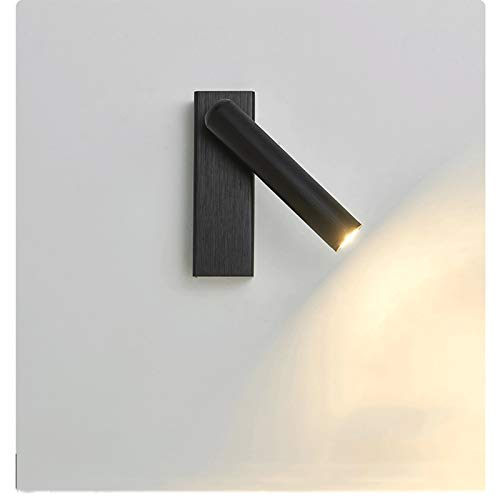 kerryshop Lámpara de Pared Leche de Lectura montada en la Pared Lámpara Rocker Switch LED 3W 3000K Entrada 110-220V Lampara de Pared Exterior (Color : A)