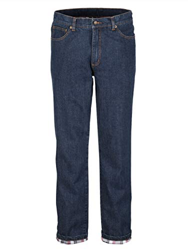BABISTA Herren Thermo-Jeans – Männer-Hose aus Baumwoll-Mix, gerade Jeans-Hosen mit wärmendem Thermo-Futter, Freizeit-Hose in Dunkelblau Gr. 54
