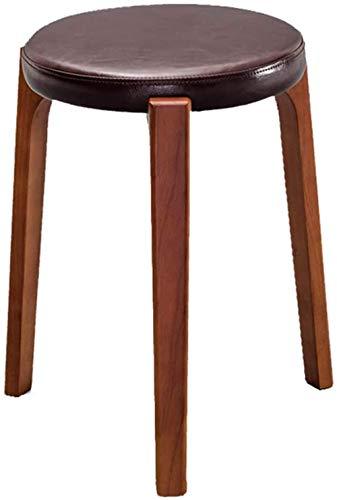 Taburete ergonómico de madera apilable portátil para silla de escritorio, taburete redondo de comedor, taburete de aprendizaje, taburete de dibujo (color: G)-Something