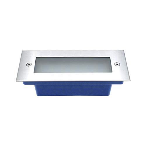 lineteckled® 10.125.47 Spot Luminaires Solaires LED 3 W à encastrer utilisation intérieur/extérieur lumière blanche froide [classe d'efficacité énergétique a +]