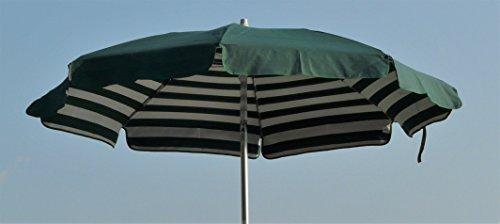 Maffei Parasol Rond Venezia Alu Blanc/Vert D. 200cm art181averderiga