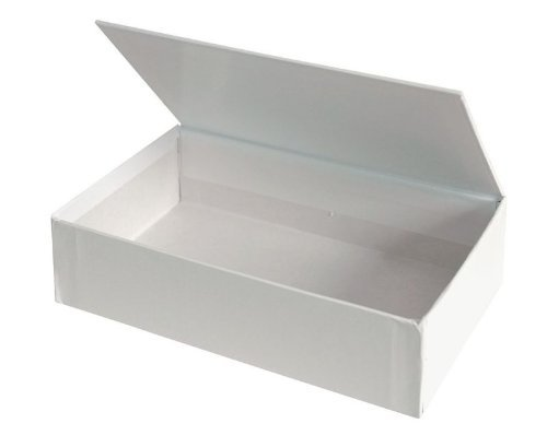 Creative Hobbies Ready to Decorate White Paperboard Box with Hinged Lid, 8.5 x 5 x 2.25 Inches -Pack of 3