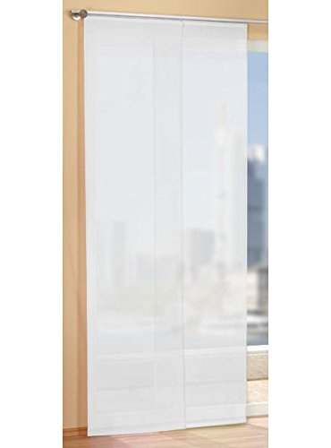 Gardinen Set, 2 x Flächenvorhang Schiebegardine mit Zubehör, Weiß