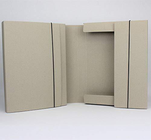 Öko Line Sammelmappe 5er Pack Mappenmanufaktur aus 100% Altpapier. DIN A4 FH 3,5 cm Fb. grau. Hergestellt in Deutschland. Sammelbox Auslegemappe Dokumentenmappe