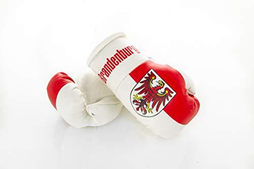 Sportfanshop24 Mini Boxhandschuhe Brandenburg, 1 Paar (2 Stück) Miniboxhandschuhe z. B. für Auto-Innenspiegel