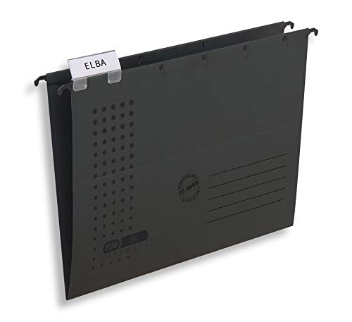 Preisvergleich Produktbild ELBA Hängemappe chic für A4,  aus Karton,  seitlich offen,  anthrazit