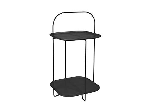 LEITMOTIV Table, Acier, Noir, H 70 cm