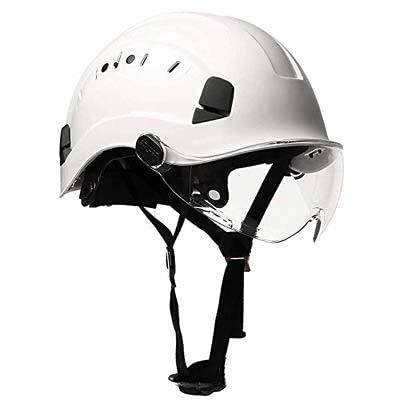 Casco de seguridad con gafas Casco de construcción Cascos protectores de ABS de alta calidad Gorra de trabajo para trabajar, escalar, montar