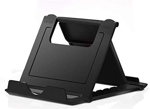 MYLB Foldable Phone Stand, Multi-Angolo Supporto Telefono Regolabile, Universale Porta Cellulare da Tavolo per Phone 11 PRO Max,se2020, Huawei, Samsung Altri 4 a 10 Pollici Smartphone e Tablet - Nero