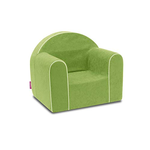 Mini Kindersessel Kinder Babysessel Baby Sessel Sofa Kinderstuhl Stuhl Schaumstoff Umweltfreundlich (Grün)