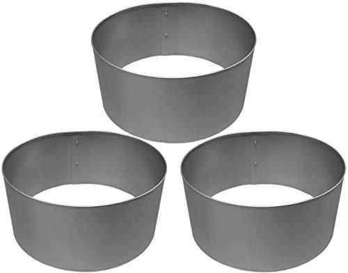 Rasenkanten Baumring Kreis aus Metall durchm. 37 cm x 17,5 cm - 3er Set