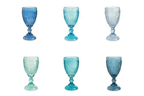 Villa D'Este Home Tivoli 2195423 - Juego de 6 copas de cristal