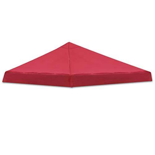 Strong Camel Canopy Replacement Top 8'X8' Canopy Cover for Pop UP Tent Slant Leg Frame (TOP ONLY) (Red)