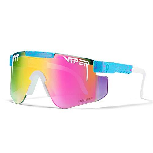 Pit Viper Gafas de sol, gafas de sol polarizadas Uv400 para ciclismo, pesca (hombre y mujer, universal)C36