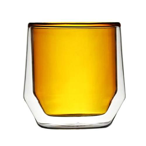 WxberG Tazas de café de cristal de 250 ml, con doble pared aislante, para té, café, latte, cappucino, leche, transparente, 12 unidades (color: tipo 1, tamaño: 250 ml)