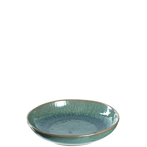 Leonardo Teller Matera 2-er Set, 20,7 cm, 2 tiefe Keramik Teller, spülmaschinengeeignet, mit Glasur, grün, 026987