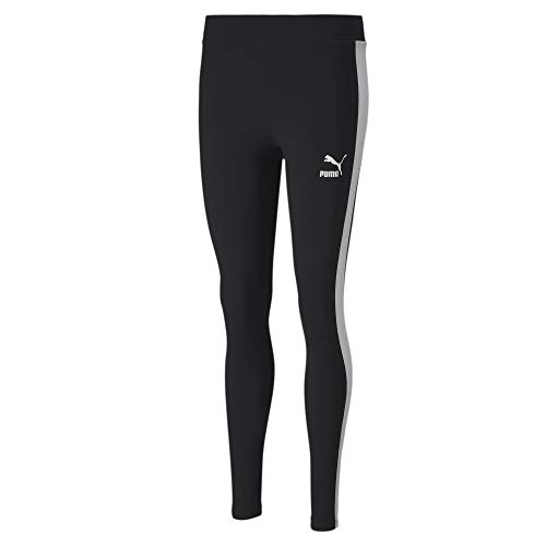 PUMA Women's Classics Logo T7 Leggings, Cotton Black, L