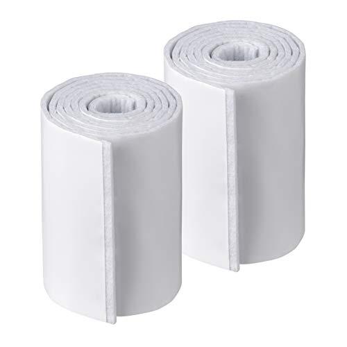 Metafranc Filz-Band 1 m x 100 mm - selbstklebend - weiß - 2 Stück - Frei zuschneidbar - Effektiver Schutz Ihrer Möbel / Filz-Klebeband auf Rolle / Möbelgleiter für empfindliche Böden / 647119