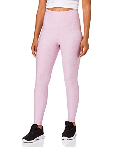 Marca Amazon - AURIQUE Mallas de Deporte Tiro Alto Mujer, Rosa (Mauve Mist Marl), 40, Label:M