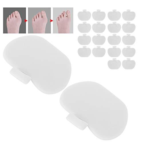 10 pares, almohadillas metatarsianas del antepié SEBS, alivio de presión, separador de dedos antideslizante, herramienta de corrección física para el cuidado de los pies(blanco)