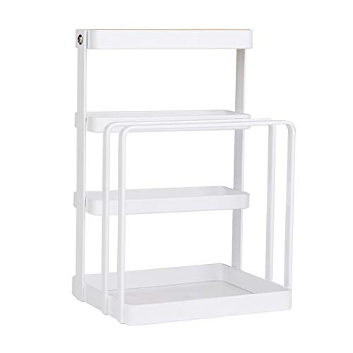 WHL Tableware Drainers Kitchen Wrought Iron Plate Cover Chopping Board Cutter Drain Rack Household Shelves Pine Storage Rack Kitchen Storage Rack