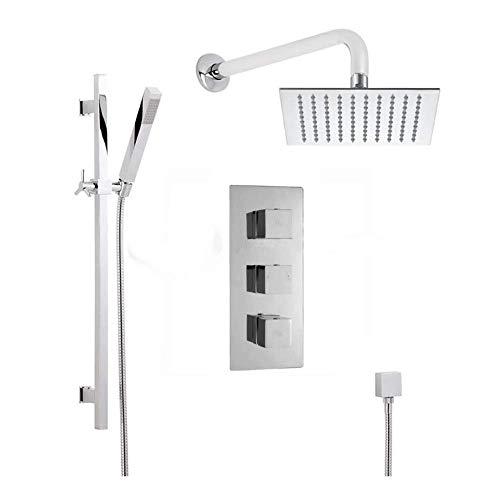 ZJN-JN Ducha de Mano de Pared Triple Oculto Sistema de Ducha termostática, de fácil instalación (Baño y Ducha Grifo Tipo: Conjuntos de Ducha) Sistemas de Ducha