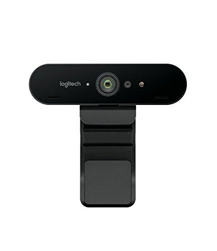 Logitech BRIO ULTRA-HD PRO Webcam, 4K HD 1080p, 5-fach Zoom, Hohe Bildfrequenz, HDR und RightLight 3, USB-Anschluss, Gesichtserkennung mit Windows Hello, Für Skype, Zoom, Cisco, PC/Mac - Schwarz