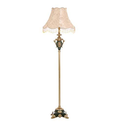 L-YINGZON Estilo Retro Resina lámpara de pie for la Sala de Estar Dormitorio Sala de Estudio Lámparas de iluminación