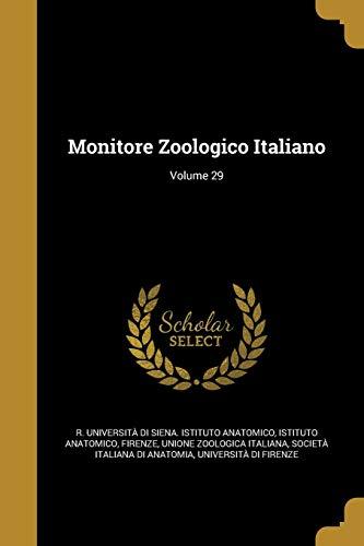Monitore Zoologico Italiano; Volume 29