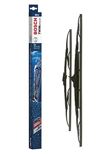 Bosch Scheibenwischer Twin Spoiler 606S, Länge: 600mm/500mm – Set für Frontscheibe