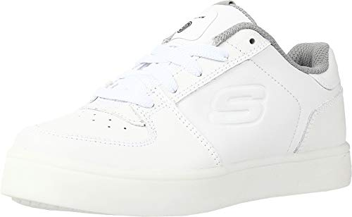 Skechers Energy Lights-Elate, Zapatillas Altas Hombre, Multicolor (Wht Black Leather/Black Trim #L), 36 EU