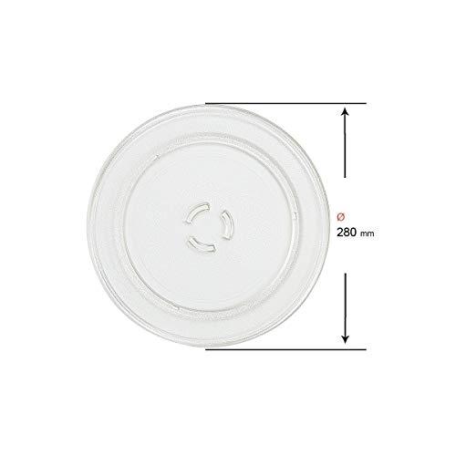 Recamania®- Plato Microondas Whirlpool 481246678407 (28 cm) GT305NY/ MAX/ MT263/ VT265