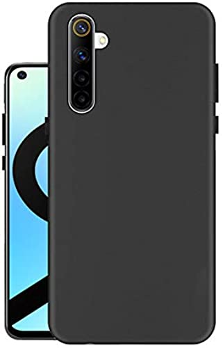 Hello Zone Exclusive Matte Finish Soft Back Case Cover for Realme 6i Black