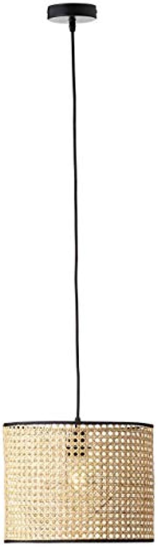 BRILLIANT WILEY Pendelleuchte  30 cm Metall Rattan Rattan