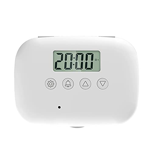 SM SunniMix Temporizador electrónico de recordatorio de píldoras para el hogar con alarmas Pantalla de temperaturas para niños y Ancianos Dispensador de vitaminas