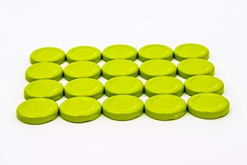 Ersatzdeckel 20 St. Twist-Off-Deckel 43 mm hellgrün für Glasflaschen, Marmeladengläser, Sturzgläser, Einkochgläser, Konservengläser und Einmachgläser to 43 (20)
