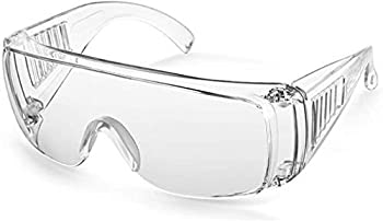 Square Anti-Fog Safety Goggles-Clear Protective Safety Glasses And Splash-Proof ANSI Z87.1 Performance Scratch And100% Double Sides Anti-Fog Ventilation Side Suitable For All Industry Made in Taiwan