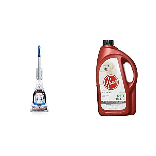 Hoover PowerDash Pet Carpet Cleaner, FH50700 & PETPLUS Concentrated Formula, 64oz Pet Stain and Odor Remover, AH30320, Green