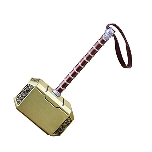 chisatowww Mjolnir Thor's Hammer Mini Mjolnir Hammer Mythology Halloween Props Juguete Cosplay Thunder Hammer Cumpleaños 1: 1 Imitación de Regalo