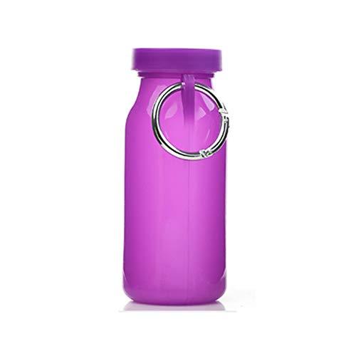 Opvouwbaar/inklapbare waterfles, draagbare lekvrije siliconenketel, BPA-vrij, inklapbare knijpflessen voor reizen, camping, wandelen, wandelen, hardlopen