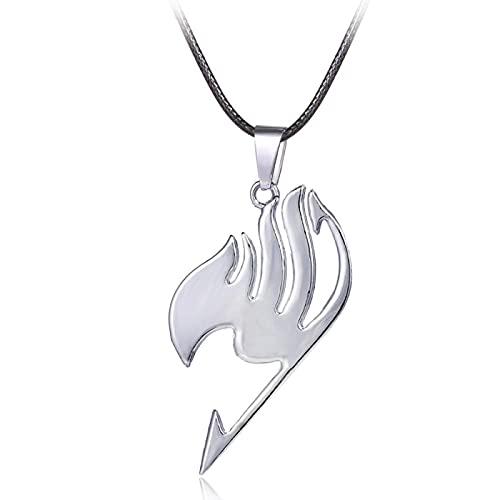 Anime Fairy Tail Logo Collier Erza Scarlet Natsu Métal Longue Chaîne Colliers Pendentifs Cosplay Accessoires Figure 2.5*4.5 Cm